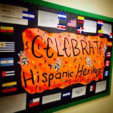 celebrate hispanic heritage month bulletin board educational