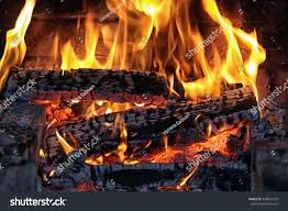 macro texture flame burning logs fireplace stock photo 348824732
