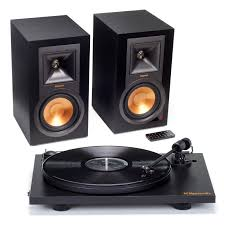 klipsch home theater speakers klipsch r 15pm powered monitor speakers and pro ject primary