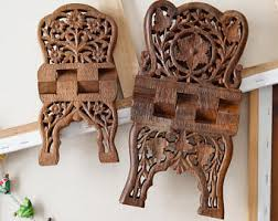 11 pakistan wood crafts sheesham book holder carving islamic holy carved book stand etsy