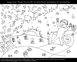 thank you for me coloring page