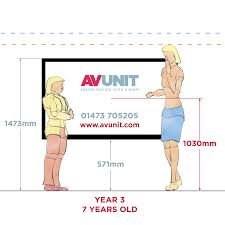 what is the correct height for a classroom interactive screen