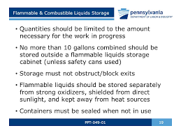 what should be stored in a flammable storage cabinet art safety 101 ppt elementary middle junior high high schools ppt