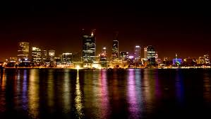 perth look at christmas time at night from kings park western