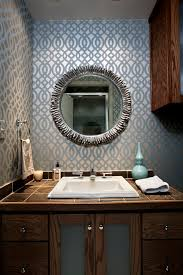 Contemporary Bathroom Mirrors by Seabrook Wallpaper Look Dallas Contemporary Bathroom Inspiration