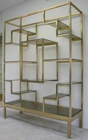 italian brass etagere furniture storage shelves and storage