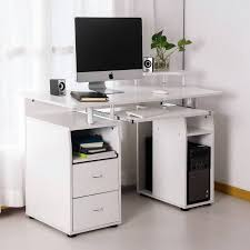 computer desk with cpu storage merax computer desk with keyboard tray slide out cabinet two drawers