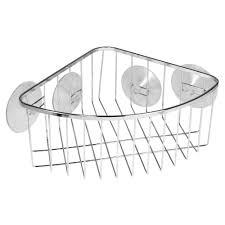 Bathtub Caddy Home Depot by Interdesign Suction Corner Shower Basket In Chrome 69102 The