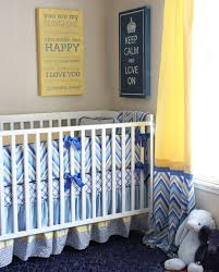 Blue And Yellow Crib Bedding Asher S Blue Yellow And Grey Nursery Yellow Grey Nurseries
