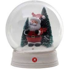 time animated snow globe with santa walmart