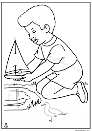 Magic Toy Boat Coloring Pages