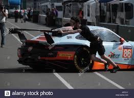 gulf porsche 911 le mans france 2nd june 2017 british gulf racing team car