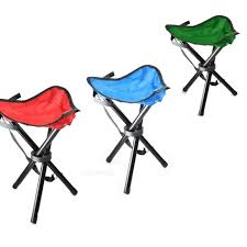small outdoor folding tripod seat camping hiking fishing stool