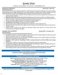 Architectural Resume Examples by Data Architect Resume Example Data Analytics It Consultant