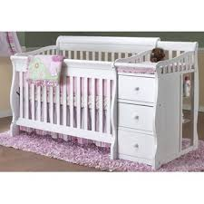 Convertible Cribs With Attached Changing Table Sorelle Tuscany 4 In 1 Convertible Crib And Changer Combo Crib