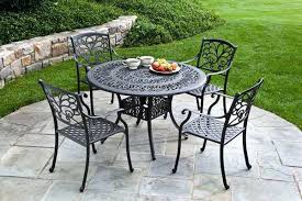 metal patio table and chairs metal outdoor table living allure mesh collection garden and chairs