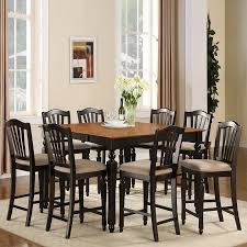 Black And Cherry Wood Dining Chairs Shop East West Furniture Chelsea Black And Cherry Dining Set With