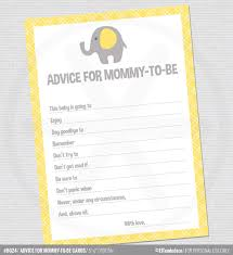 to be cards baby shower advice cards advice for yellow elephant baby