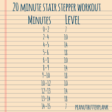 20 minute stair stepper workout stair master workouts