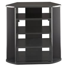 tv stands tall black corner media cabinet with shelf tv stand