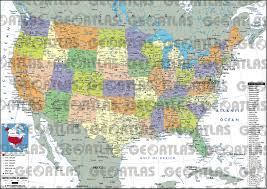 Usa Maps States by Geoatlas Countries United States Of America Map City