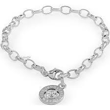s charm bracelet sabo sterling silver charm club diamond anniversary