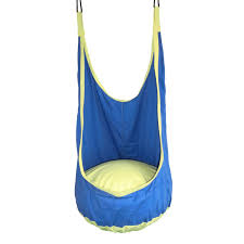yontree 1 pc blue baby patio swings children inflatable hammock