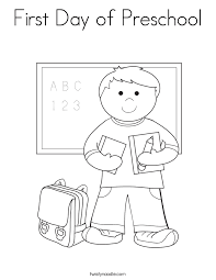 preschool coloring pages school first day of preschool coloring page twisty noodle