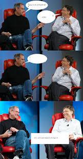 Bill Gates Steve Jobs Meme - 20 steve jobs bill gates funny conversations comics give up