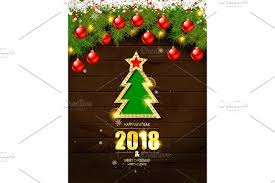 brown christmas poster merry christmas poster template graphics creative market