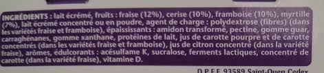 8 Pots by Taillefine 0 Mg Fruits Rouges Panachés 8 Pots Danone 1 Kg