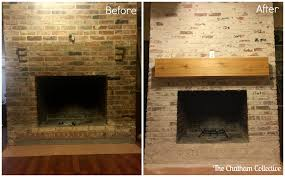 How To Clean Fireplace Bricks With Vinegar by How To Mortar Wash German Smear A Brick Fireplace Updated May
