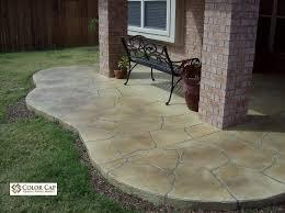 Outdoor Concrete Patio Color Cap Outdoors Color Cap Concrete Coatings Overlays Acid