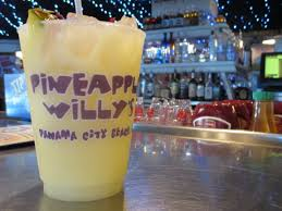 a pineapple willy drink at pineapple willys in panama city beach