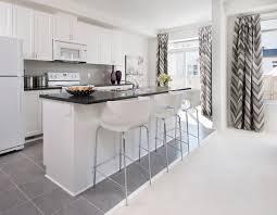 Modern Kitchen With White Appliances Model Homes Contemporary Kitchen Ottawa By Tartan Homes