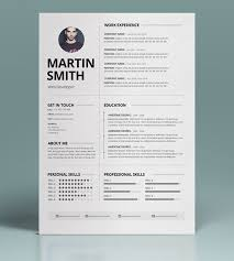 best resume templates 50 best minimal resume templates design graphic design junction