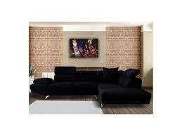 canapé velours noir canape d angle en velours maison design wiblia com