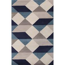 Navy Blue And Beige Area Rugs by Jaipur Rugs Series Collection En Casa By Luli Sanchez Tufted