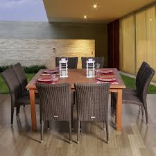 9 piece dining room table sets faux wood patio furniture home outdoor decoration