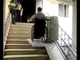 wheelchair stair lift youtube