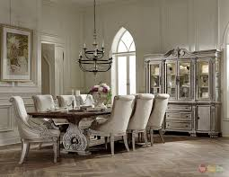 Formal Dining Room Furniture Sets Homelegance Orleans Ii White Wash Traditional 7pc Formal Dining