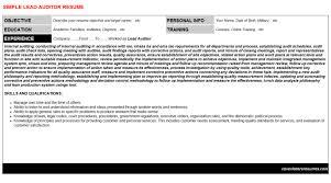 cover letter auditor lead auditor cover letter u0026 resume
