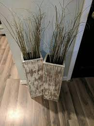 sale two 24 tall rustic floor vases wooden vases home