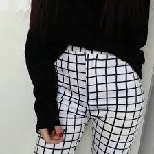 pattern jeans tumblr v6h28u l 610x610 pants grid pattern trousers pale sweater white high