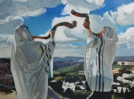 shofar from israel beautiful painting of shofar hearing shofar