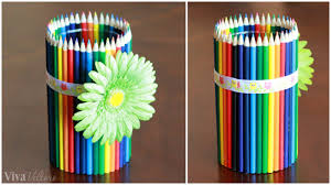 Pencil Vase Easy Diy Teacher Gift Colored Pencil Vase Viva Veltoro