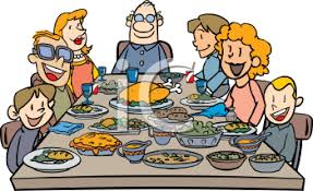 family thanksgiving dinner clip royalty free clipart