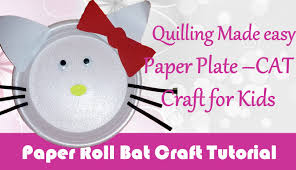 diy craft ideas how to make paper plate cat craft for kids paper