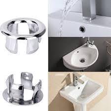 X Bathroom Kitchen Sink Hole Round Overflow Cover Basin Tidy - Kitchen sink hole cover