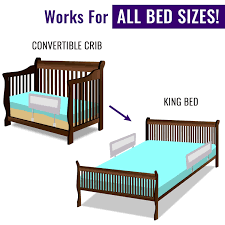 How To Convert A Crib To A Bed by Amazon Com Toddler Bed Rail Guard For Convertible Crib Kids